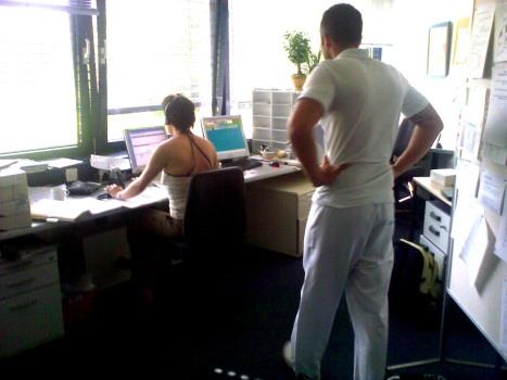 IFAT bei Arbeit